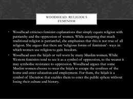 feminist theories of religion 8 woodhead religious feminism•