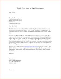 Cover Letter For High School Student Denial Sample Motivation