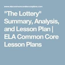 comprehension chart the lottery by shirley jackson chart   the lottery summary analysis and lesson plan ela common core lesson