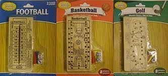 Wooden Peg Board Game Amazon Bundle of 100 Travel Games Including Football 54