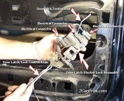how to replace car door locks 1 car door wont lock