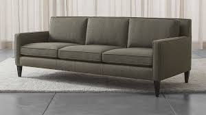Modern couch White Crate And Barrel Rochelle Midcentury Modern Sofa Reviews Crate And Barrel