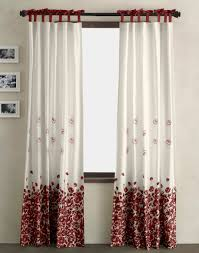 The Best Curtains For Living Room Living Room Extraordinary Image Of Pleated Red And White Flower
