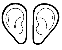 Small Picture Pair of Ear Colouring Page Colouring Tube