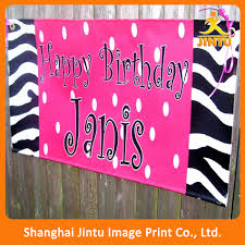 custom happy birthday banner eco solvent happy birthday banner custom design printing vinyl