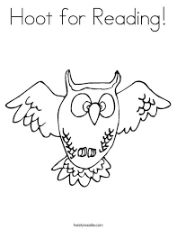 Small Picture Hoot for Reading Coloring Page Twisty Noodle