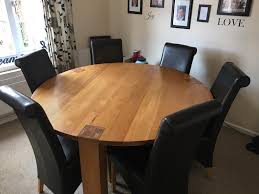 solid oak dining table 6 chairs in high wycombe buckinghamshire gumtree