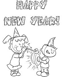 You can give a coloring page to a 2 years baby and to the schoolboy. Free Happy New Year Colouring Pages For Kids