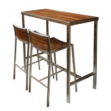 evolve high bar table teak stainless collection jardin