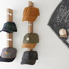 baseball hat wall display pottery
