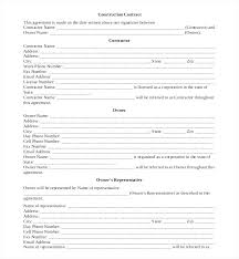Contract Forms For Construction Home Remodeling Contract Template Remodeling Contracts Sample