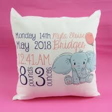personalised newborn baby cushion new born baby gift new born baby information cushion gift
