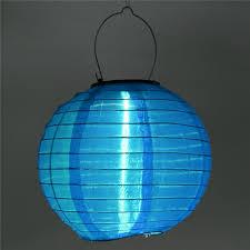 Chinese Lanterns Battery Operated Solar LED Lights Set  Blue Chinese Lantern Solar Lights