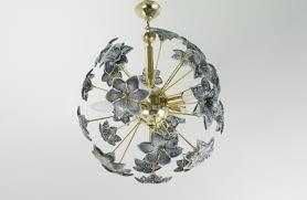 Great Vintage Mid Century Sputnik Chandelier With Glass