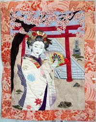 94 best Asian Quilts images on Pinterest | Block quilt, Colorful ... & Recently we visited a quilt shop in the San Francisco Bay area which had a  wonderful Adamdwight.com