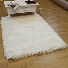 large white fluffy rug