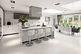 Lattice Stools in Grey Modern Kitchen