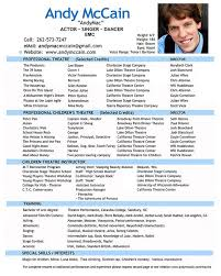 Samples Resume Example Theatre Resume. Film Resume Example
