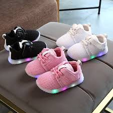 The Noble Collection Toddler Children Boys Girls Kid Led Light Running Athletics Sneakers Baby Shoes