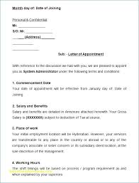Example Certificate Appointment Letter Format Doc Download Copy