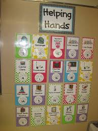 Classroom Chore Chart This Is A Cute Job Chart I Like The Pretty Patterned Paper