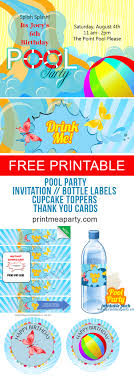 Free Pool Party Invitations Printable Free Pool Party Invitations Print Me A Party