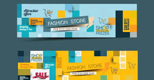 Free new shopping sale banner psd mockup. Web Banners Mockup Vector Web Banners Creative Design Graphics Set Free Vector Vectorkh