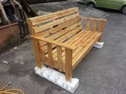 recycled pallet bench buy wooden pallet furniture