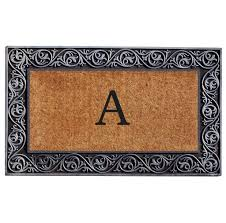 Home Decoration: Fabulous Monogram Doormat With Awesome Border ...
