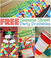 Diy Party Printables Free Sesame Street Party Printables Www Allthingsgd Com