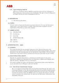 Project Management Contract Template Property Manager Contract