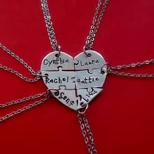 six heart puzzle piece necklace 6