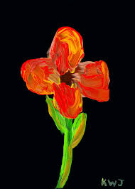painting painting colorful flower painting on black background by keith webber jr