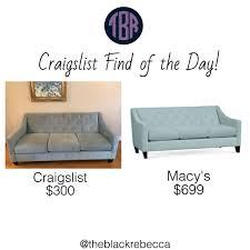 craigslist find of the day macy s chloe velvet tufted sofa