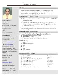 New Resume Formats Resumesamples11 Download Format Cv In India For