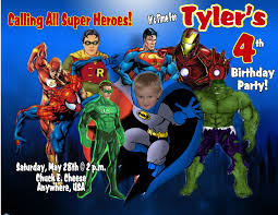 Personalized Superhero Birthday Invitations All Products Welcome To Grand Creations By Meme Personalized