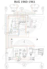 vw tech article wiring diagram vw beetle 1960 61 wiring