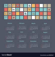 Travel Calendar Calendar 2015 Year With Travel Icons Royalty Free Vector