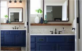 bathroom redo. Hello BLUE Vanity. We Painted The Old Vanity And Added Hardware. Blue Felt Risky To Me\u2013but It\u0027s Boys\u0027 Bath I Wanted It Feel Masculine. Bathroom Redo