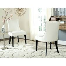 white leather dining chairs en vogue dining white leather dining chairs set of 2 white leather