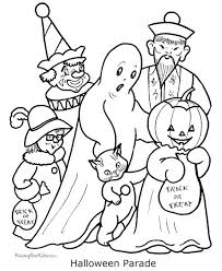 Small Picture Fun and Spooky Halloween Coloring Pages Costumes family holiday
