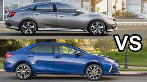 2017 Toyota Corolla VS 2017 Honda Civic - YouTube