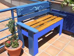 images of pallet furniture. Outdoor Pallet Furniture Ideas Creative Blue Painted Bench Images Of