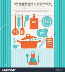 Kitchen Shower Kitchen Shower Vector Illustration Stock Vector 106207211