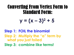 15 converting from vertex form to standard form