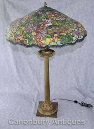 antique french tiffany bronze table lamp light glass shade 1 of 1only 1 available