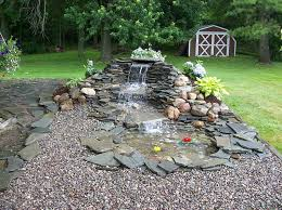 Small Picture Garden and Patio Small DIY Ponds With Waterfall And Stone Border