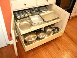 kitchen cabinet roll out drawers cabinets shelves storage with pull cupboard ideas for pots and pans