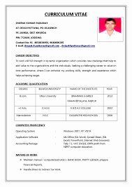 Sample Resume With Picture Template Example Of Sample Resume Format