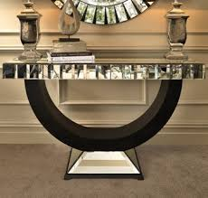 quartz mirrored console table art deco mirrored furniture